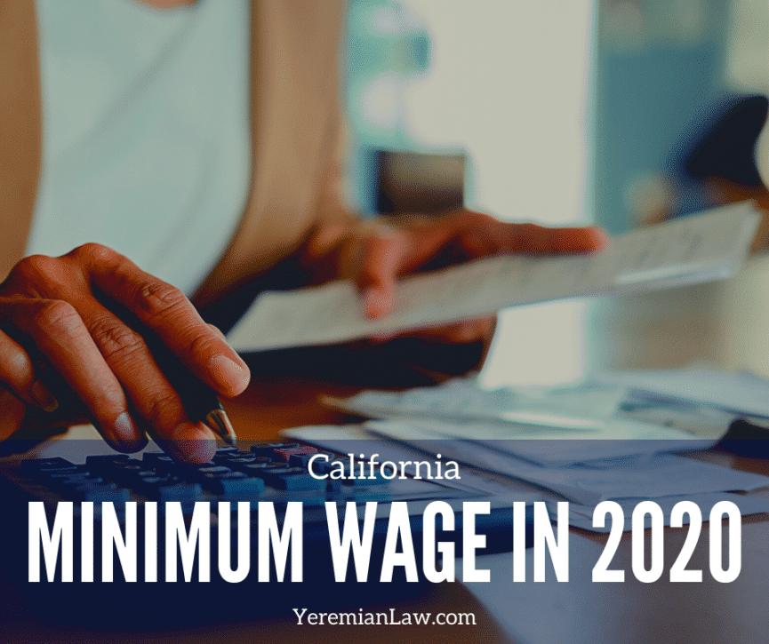 California Minimum Wage 2020